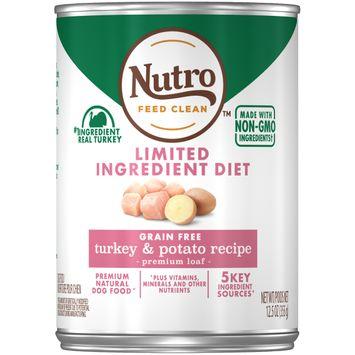 Nutro Feed Clean™ Limited Ingredient Diet Grain Free Turkey & Potato Recipe Premium Loaf Dog Food