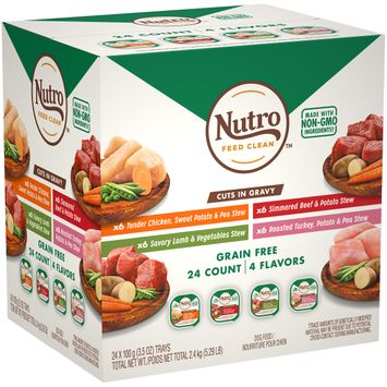 Nutro™ Grain Free Cuts In Gravy Roasted Turkey/tender Chicken/simmered Beef/savory Lamb Dog Food Variety Pack
