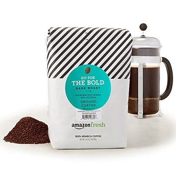 AmazonFresh Go For The Bold Ground Coffee, Dark Roast, 32 Ounce [Dark Roast]