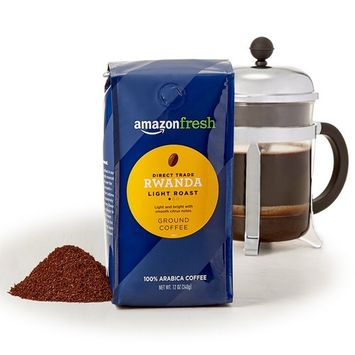 AmazonFresh Direct Trade Rwanda Ground Coffee, Light Roast, 12 Ounce (Pack of 3)