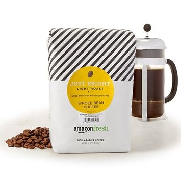 AmazonFresh Just Bright Whole Bean Coffee, Light Roast, 32 Ounce [Light Roast]