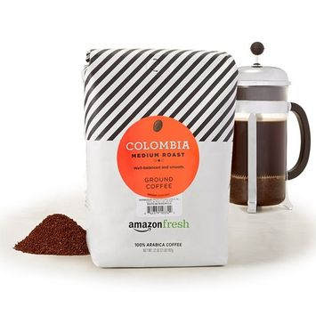 AmazonFresh Colombia Ground Coffee, Medium Roast, 32 Ounce [Colombia, Medium Roast]
