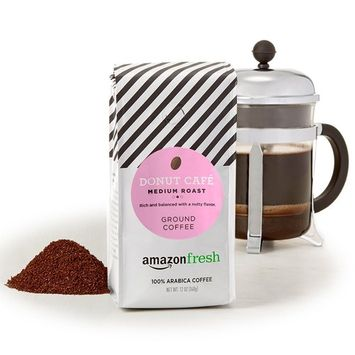 AmazonFresh Donut Café Ground Coffee, Medium Roast, 12 Ounce (Pack Of 3)