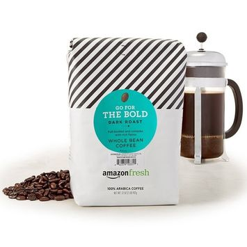 AmazonFresh Go For The Bold Whole Bean Coffee, Dark Roast, 32 Ounce [Dark Roast]