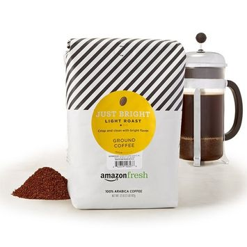 AmazonFresh Just Bright Ground Coffee, Light Roast, 32 Ounce [Just Bright, Light Roast]