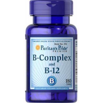 Puritan's Pride Vitamin B-Complex And Vitamin B-12-180 Tablets