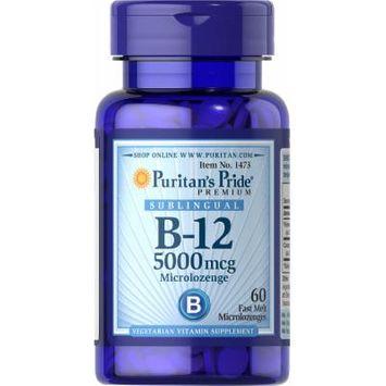 Puritan's Pride Vitamin B-12 5000 mcg Sublingual-60 Microlozenges