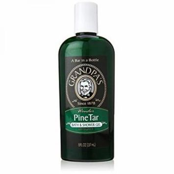 Grandpa's Brands Pine Tar Bath and Shower Gel, 8 Ounce