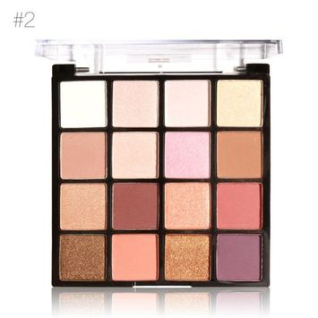 16 Colors Makeup Powder Matte Eye Shadow Palette Highly Glitter Shimmer Pigmented Mineral Cosmetic Eyeshadowt By D-XinXin (B)