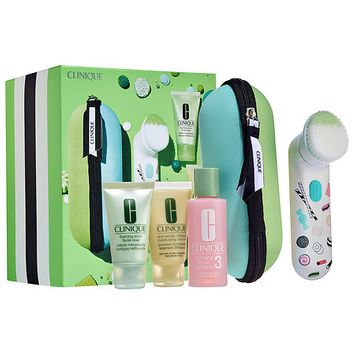 Clinique Sweet Sonic Cleansing Brush Set for Oilier Skin