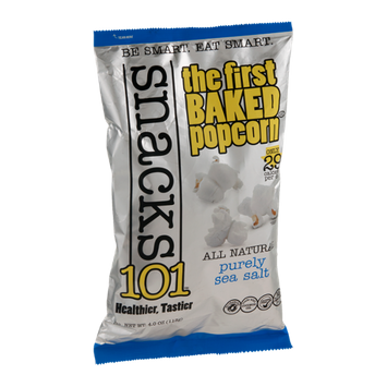 Snacks101 Baked Popcorn All Natural Purely Sea Salt
