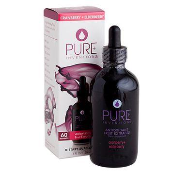 Pure Inventions - Antioxidant Fruit Extracts Liquid Dropper Cranberry Elderberry - 4 oz.
