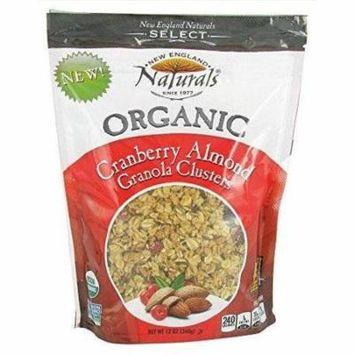 6 Pack : New England Naturals - Organic Granola Select Cranberry Almond - 12 Oz.