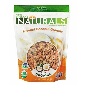 England Naturals Gluten Free Organic Toasted Coconut Granola, 11 Ounce