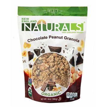 England Naturals Gluten Free Organic Chocolate Peanut Granola, 10 Ounce