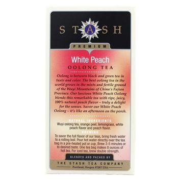 Stash Tea White Peach Wuyi Oolong Tea, 18 Ct, 1.2 Oz