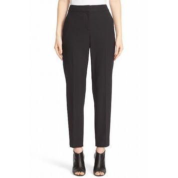 St. John NEW Black Women's 10X29 Side-Stripe Dress Pants Wool Stretch