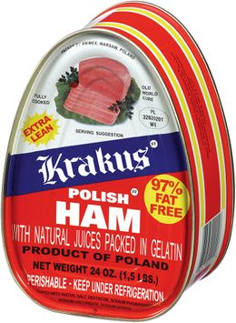 Krakus Polish Ham with Natural Juices Packed in Gelatin