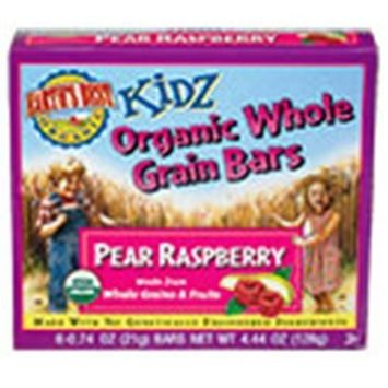 Earth's Best Kidz Organic Whole Grain Bars, Pear Raspberrys, 4.4-Ounce Boxes (Pack of 12)