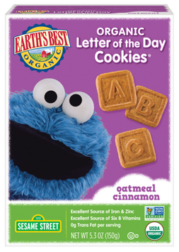 Earth's Best Organic® Oatmeal Cinnamon Organic Letter of the Day Cookies