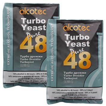 Alcotec 48-hour Turbo Yeast, 135 grams (Pack of 2)