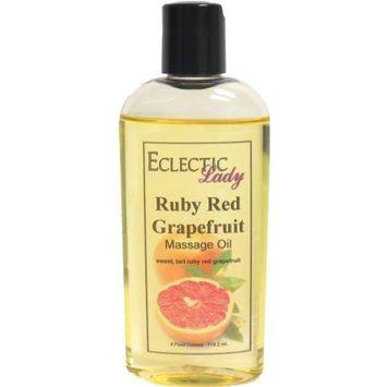 Ruby Red Grapefruit Massage Oil, 4 oz