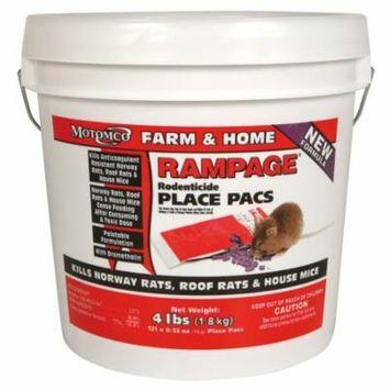 Motomco Rampage Bait Chunx 15 GM 121 Place Packs Rat Mice Bait Pest Control