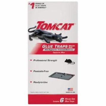 6pc Tomcat Mouse Glue Trap Imbedded With Eugenol 4PK