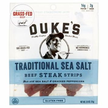 Dukes Strips Beef Sea Salt,2.5 Oz (Pack Of 8)
