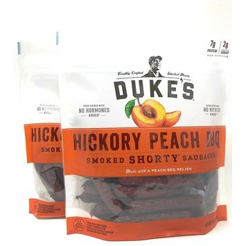 Dukes Smoked Shorty Sausages Sticks Hickory Peach BBQ
