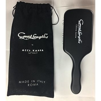 Great Lengths Square Paddle Brush by ACCA KAPPA Made in Italy Wood and Boar Bristle