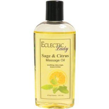 Sage And Citrus Massage Oil, 8 oz