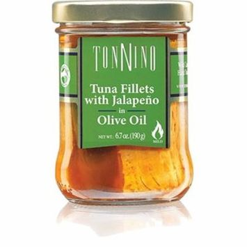 Tonnino Tuna Fillets with Jalapeno in Olive Oil, 6.7 oz Jar