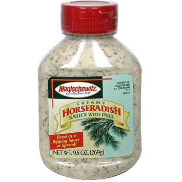 Manischewitz Creamy Horseradish Sauce With Dill, 9.25 oz (Pack of 9)