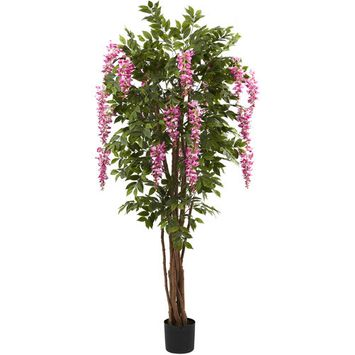 Nearly Natural 6-1/2' Wisteria Silk Tree