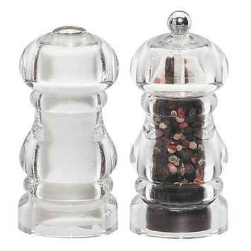 Chef Specialties 29190 5 Inch - 13cm LaurelAcrylic Pepper Mill Salt Shaker Set