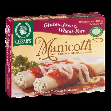 Caesar's Manicotti With Cheese In Marinara Sauce