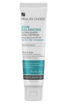 Paula's Choice Paulas Choice Skin Balancing Ultra-Sheer Daily Defense SPF 30 Oil-Free Moisturizer with Antioxidant
