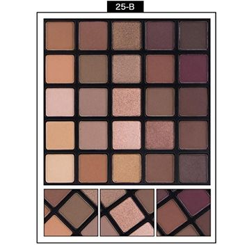 Misaky Classy Intensity Cosmetic Matte Eyeshadow Cream Eye Shadow Makeup Palette Shimmer Set Pigment Palette 25 Color