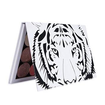 Misaky Empty Magnetic Palette Makeup Palette Pad Black Large Pattern DIY Palette Eyeshadow Pans(NO Eyeshadow)