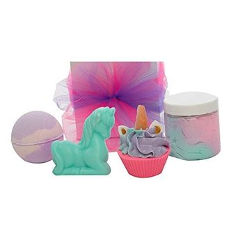 Unicorn Gifts For Kids, Teens, Girls, Women,Friends Of All Age Groups As Birthday & Party Presents - 4 Amazing Products; Sugar Scrub, Unicorn Bath...