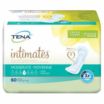 Tena Intimates Moderate Pads, Long (Formerly Extra Plus), Case/180 (3 bags of 60)