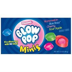Charms Blow Pop Minis Bubble Gum Filled Candy