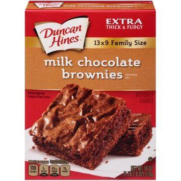 Pinnacle Foods Duncan Hines Brownie Mix, Milk Chocolate, 18 Oz