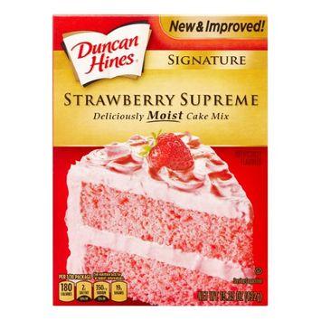 Pinnacle Foods Duncan Hines SIGNATURE LAYER CAKE MIX Strawberry Supreme 15.25 Oz