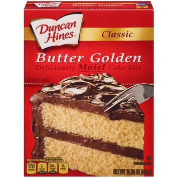 Pinnacle Foods Duncan Hines Classic Cake Mix, Butter Golden, 15.25 Oz