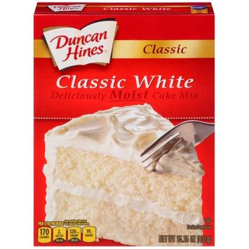Pinnacle Foods Duncan Hines Classic Cake Mix, Classic White, 15.25 Oz
