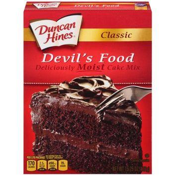 Pinnacle Foods Duncan Hines Classic Cake Mix, Devil's Food, 15.25 Oz