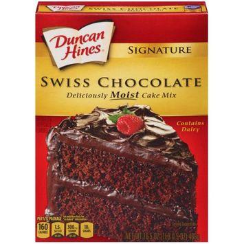 Pinnacle Foods Duncan Hines Signature Cake Mix, Swiss Chocolate, 16.5 Oz