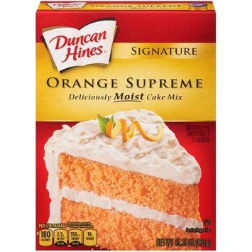Pinnacle Foods Duncan Hines SIGNATURE LAYER CAKE MIX Orange 15.25 Oz